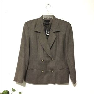 Halston Blazer Double Breasted Wool NWT